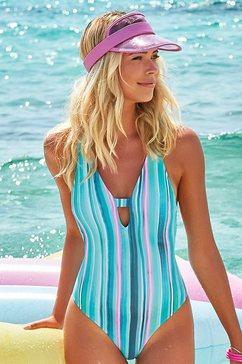 venice beach badpak met verticale strepen en structuurstof blauw