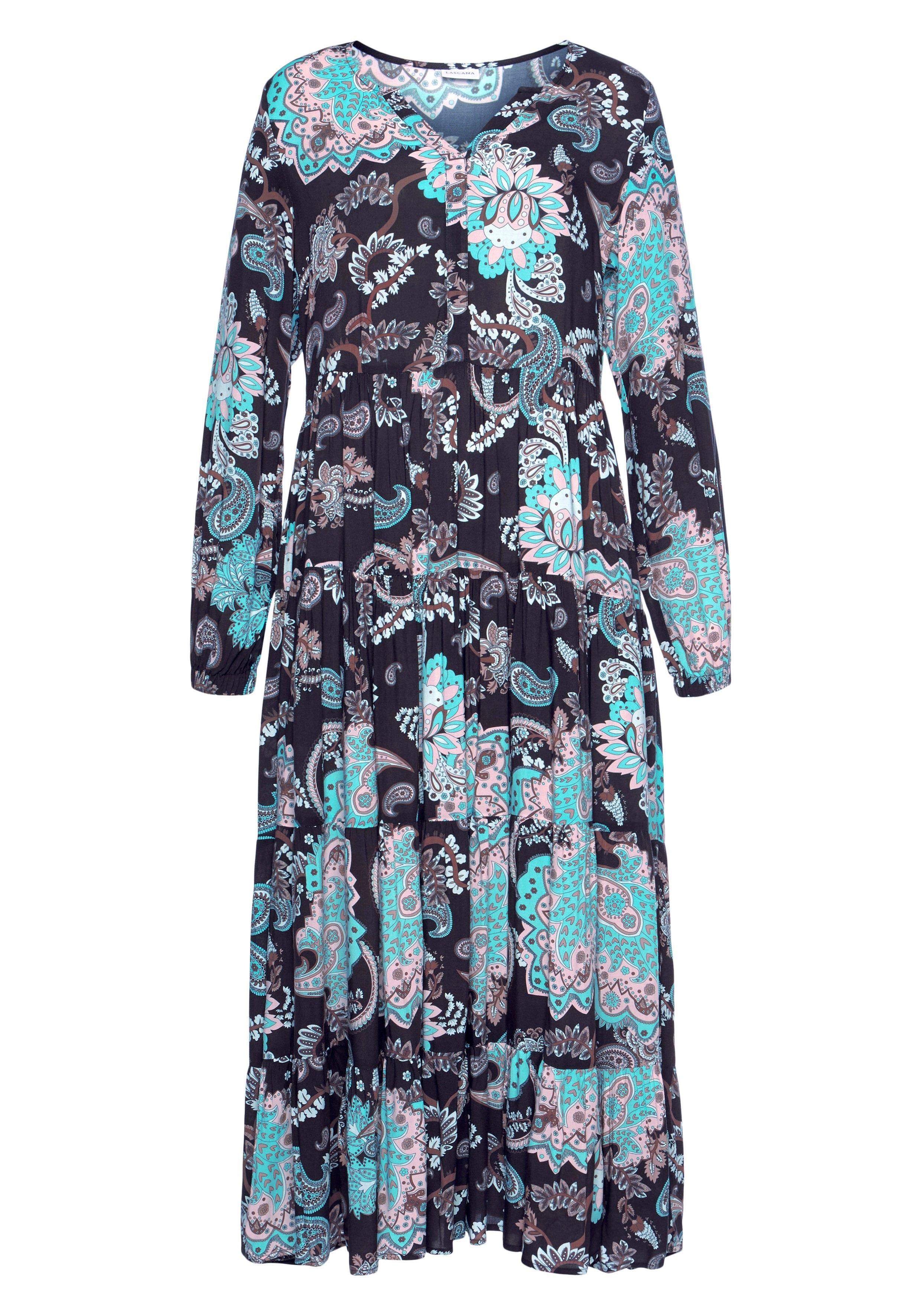 Lascana maxi-jurk met all-over print bestellen: 30 dagen bedenktijd