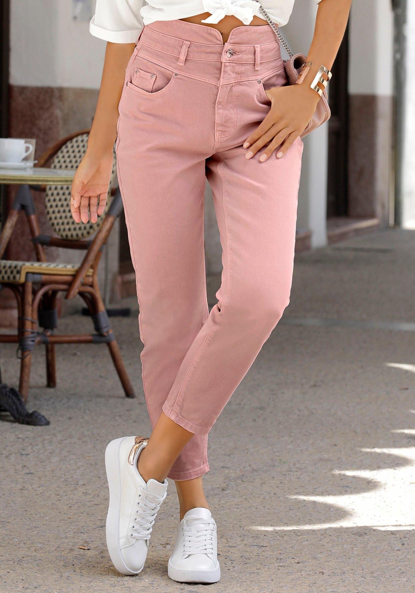 Op zoek naar een Lascana Mom jeans in used-wassing? Koop online bij Lascana