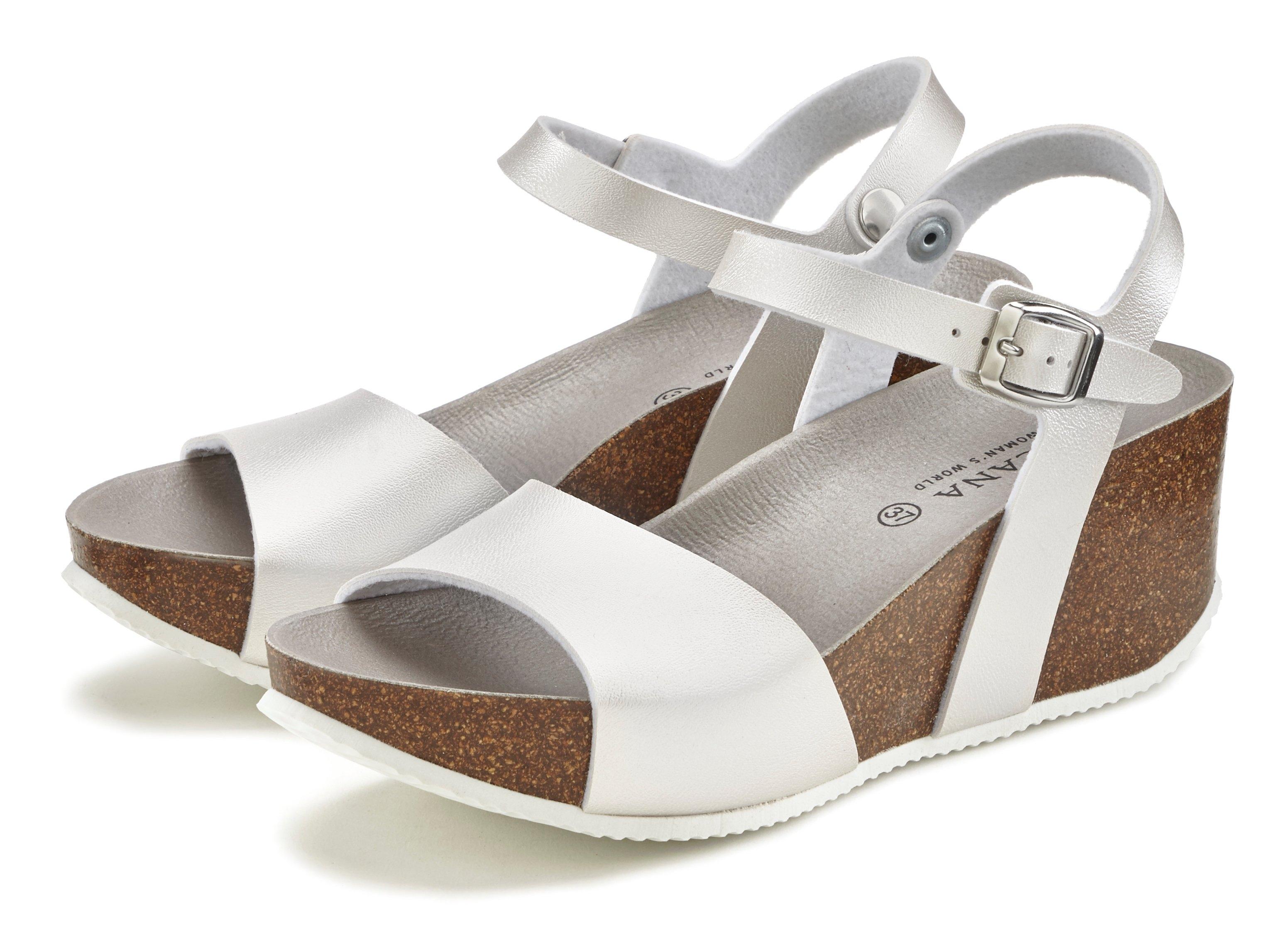Lascana sandaaltjes met sleehak en kurkvoetbed - verschillende betaalmethodes