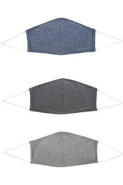 lascana mondkapjes (set, 3-delig) grijs