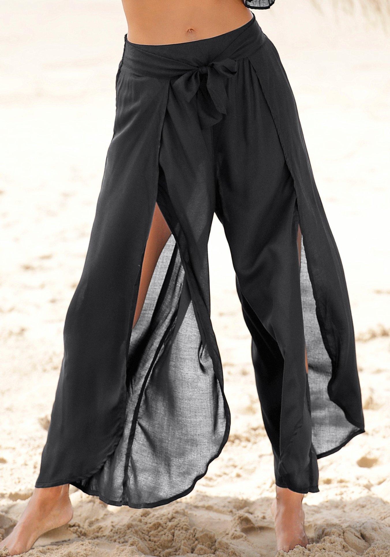 s.Oliver RED LABEL Beachwear strandbroek met hoog splitje onder in de pijpen - verschillende betaalmethodes