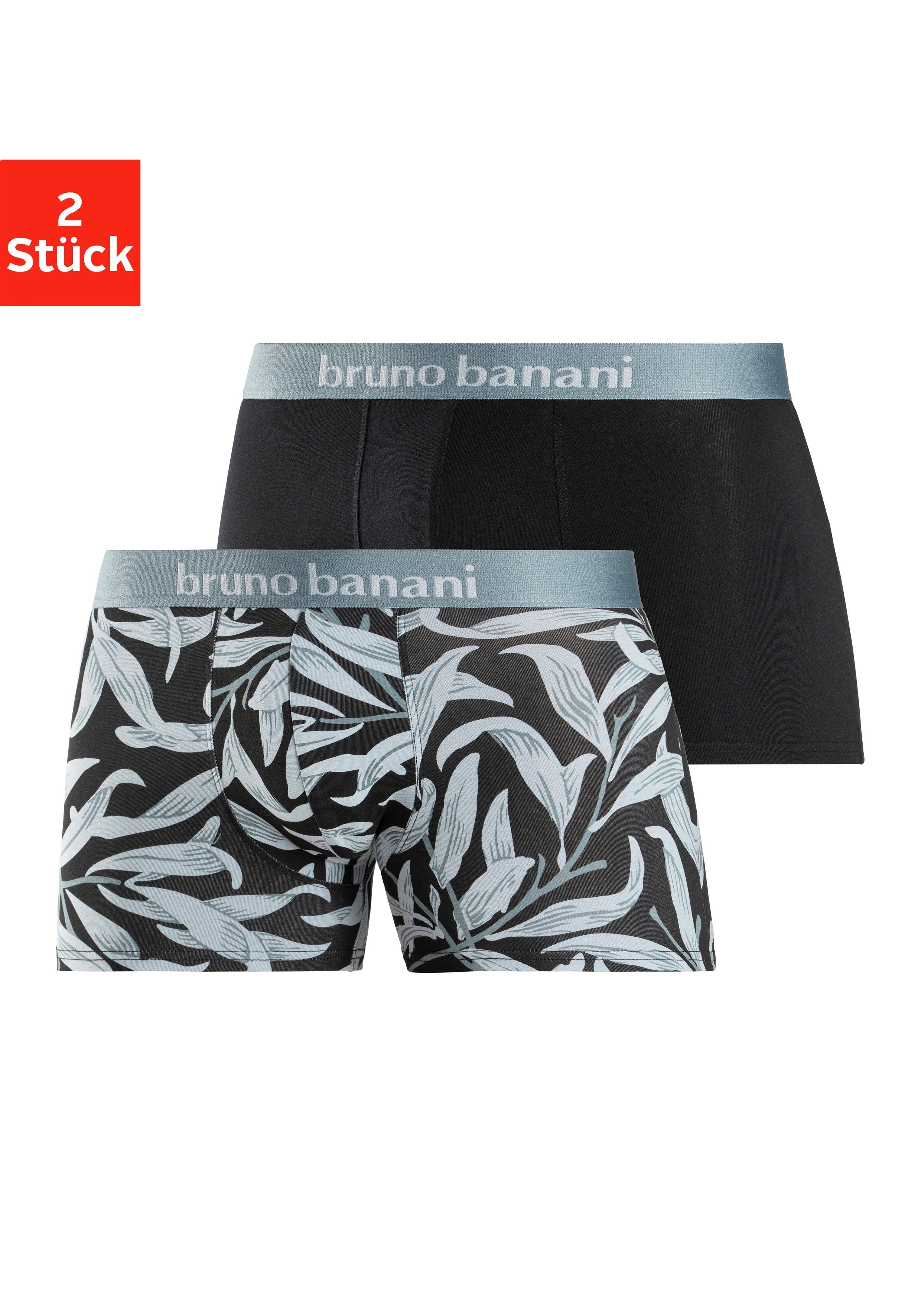 Bruno Banani Boxershort Short 2 Pack Leaf (2 stuks) goedkoop op lascana.nl kopen