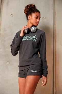 bench. sweatshirt met geborduurd logo grijs