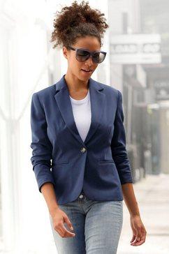 lascana korte blazer blauw