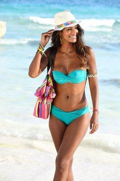 s.oliver red label beachwear beugel-bandeautop »spain« blauw