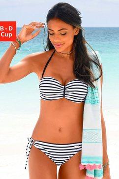 venice beach bandeau-bikinitop summer met aangerimpeld midden wit