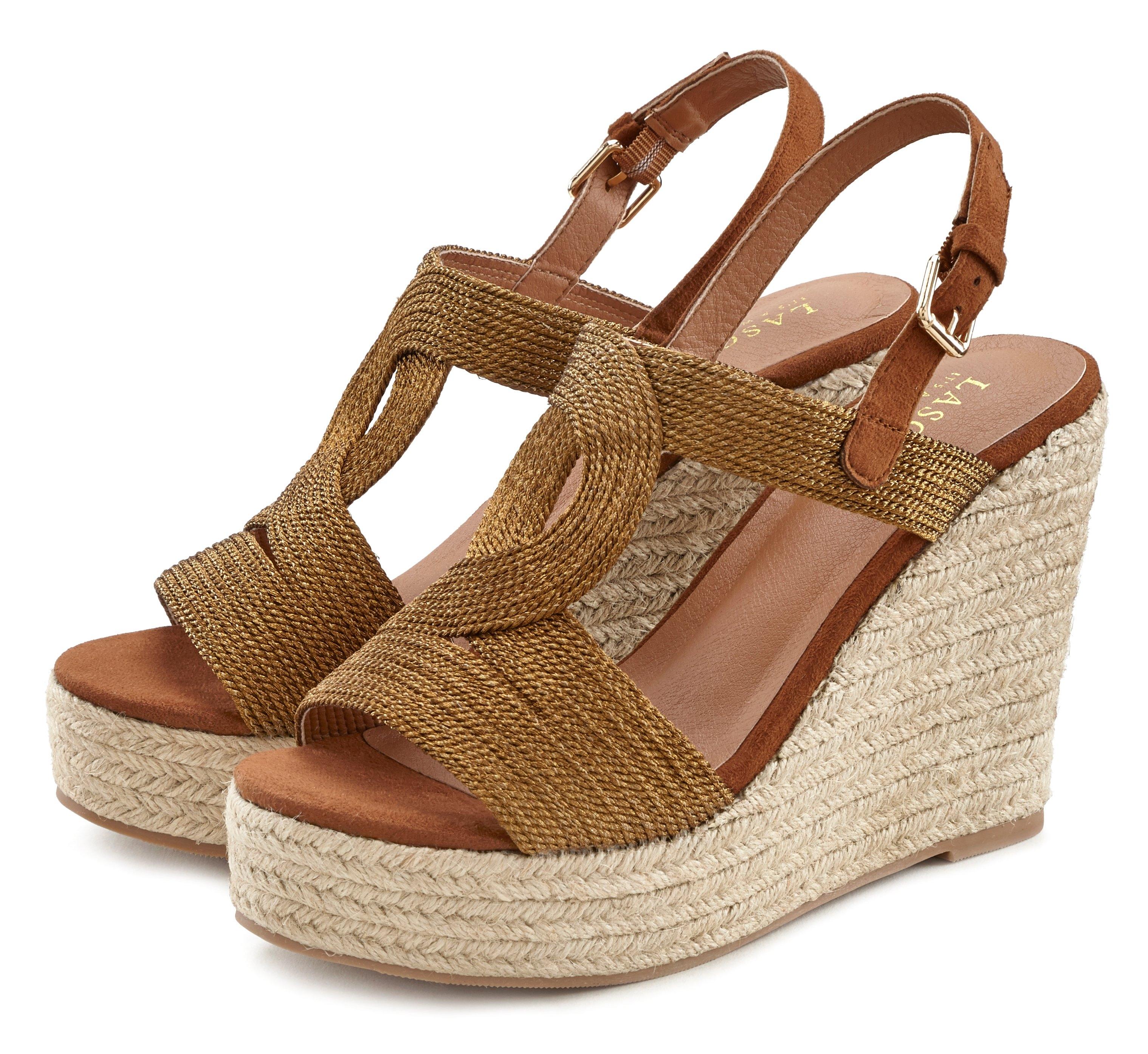 Lascana Highheel sandaaltjes met sleehak goedkoop op lascana.nl kopen
