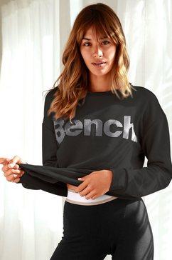 bench. sweatshirt met labelprint zwart