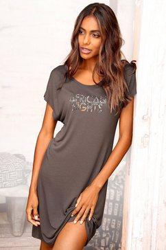 lascana nachthemd met iets verbrede schouders bruin
