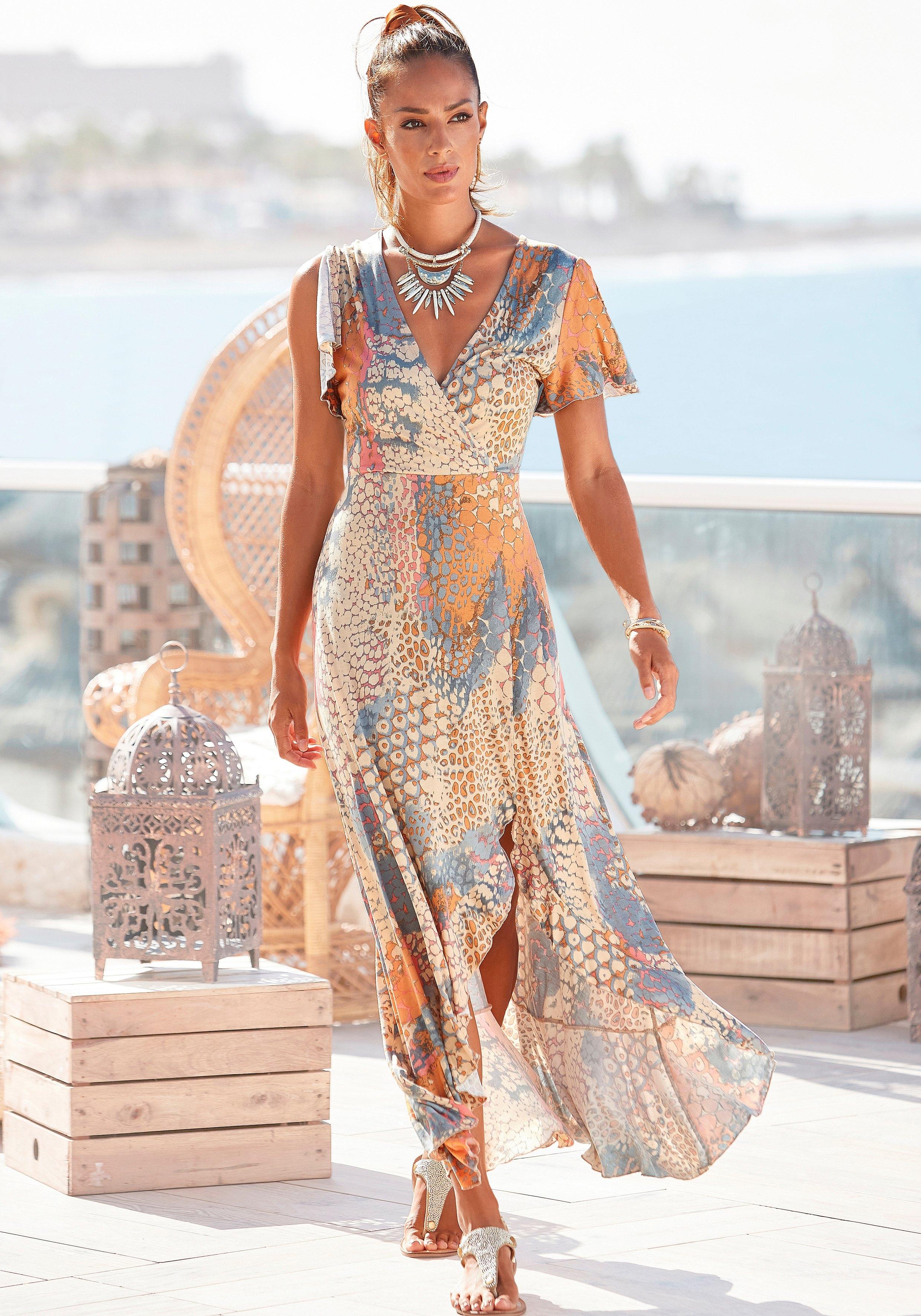 Buffalo Maxi-jurk met dierenprint nu online kopen bij Lascana