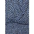 lascana shirt met korte mouwen met lage ruglijn blauw