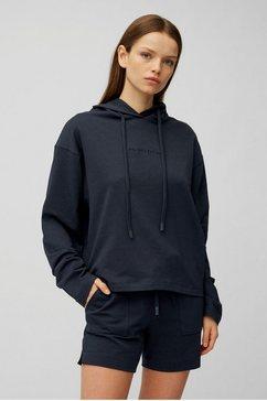marc o'polo hoodie met een logo-opschrift grijs