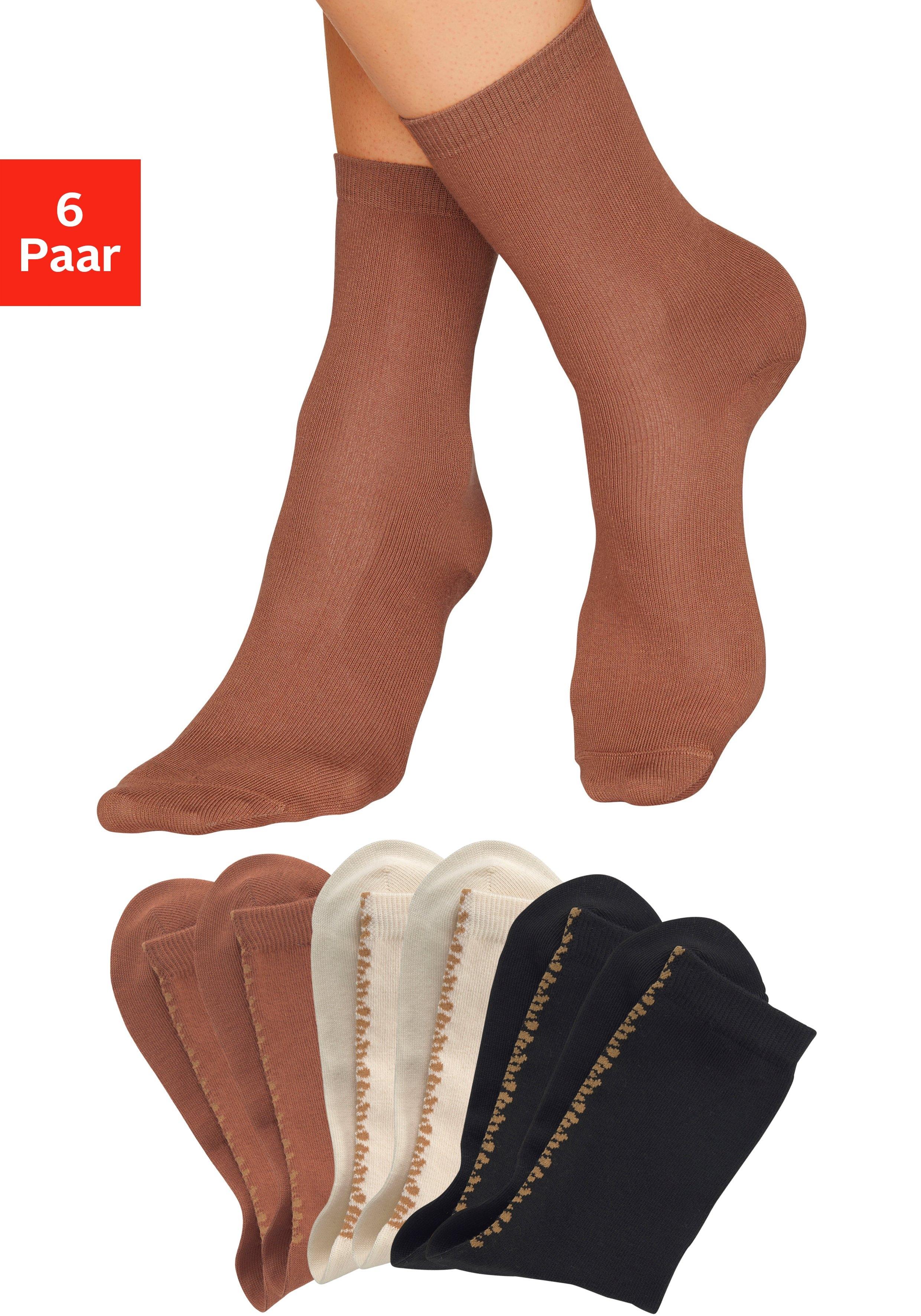 Buffalo sokken uni met luipaarddessin goedkoop op lascana.nl kopen