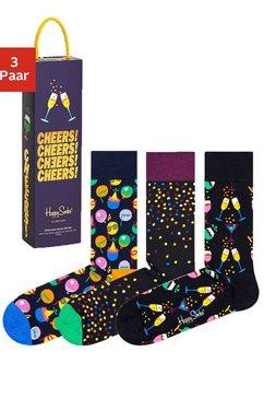 happy socks sokken in aantrekkelijke cadeauverpakking (box, 3 paar) multicolor