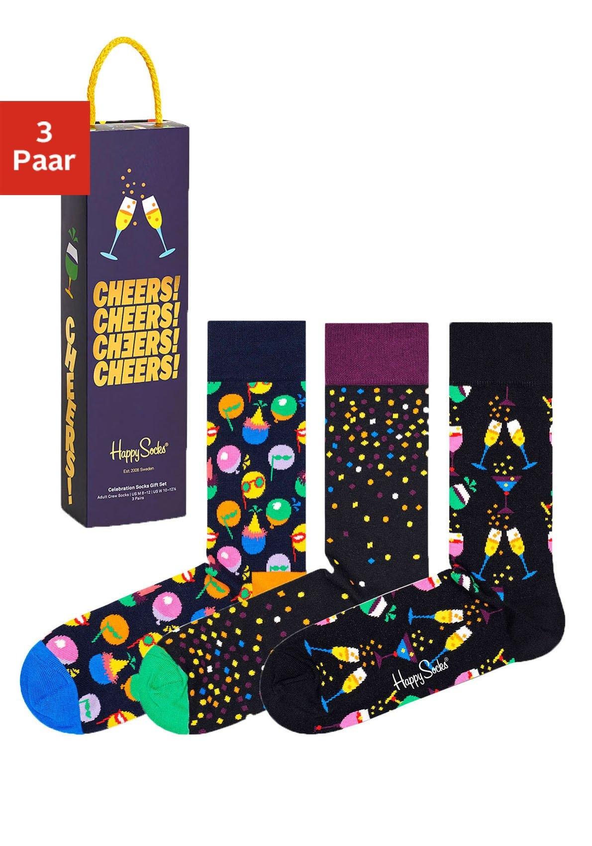 Happy Socks sokken in aantrekkelijke cadeauverpakking (box, 3 paar) voordelig en veilig online kopen