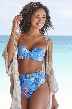 s.oliver red label beachwear highwaist-bikinibroekje maya blauw