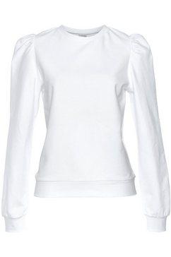 lascana sweatshirt met ruchemouwen wit