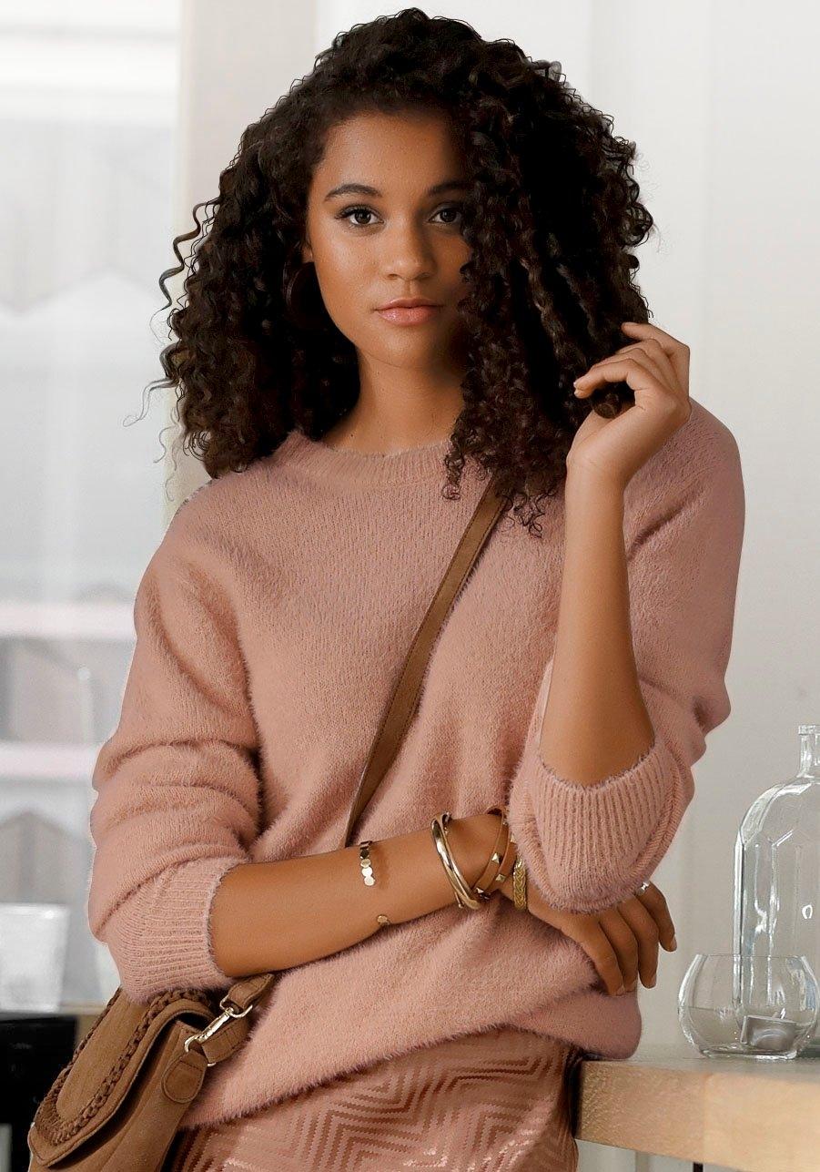 LASCANA Buffalo trui met ronde hals nu online kopen bij Lascana