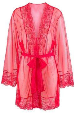 lascana kimono met chique kant rood
