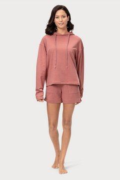 marc o'polo relaxshorts elastische band met rijgkoord roze