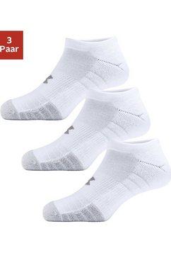 under armour sneakersokken met anatomische bekleding (3 paar) wit