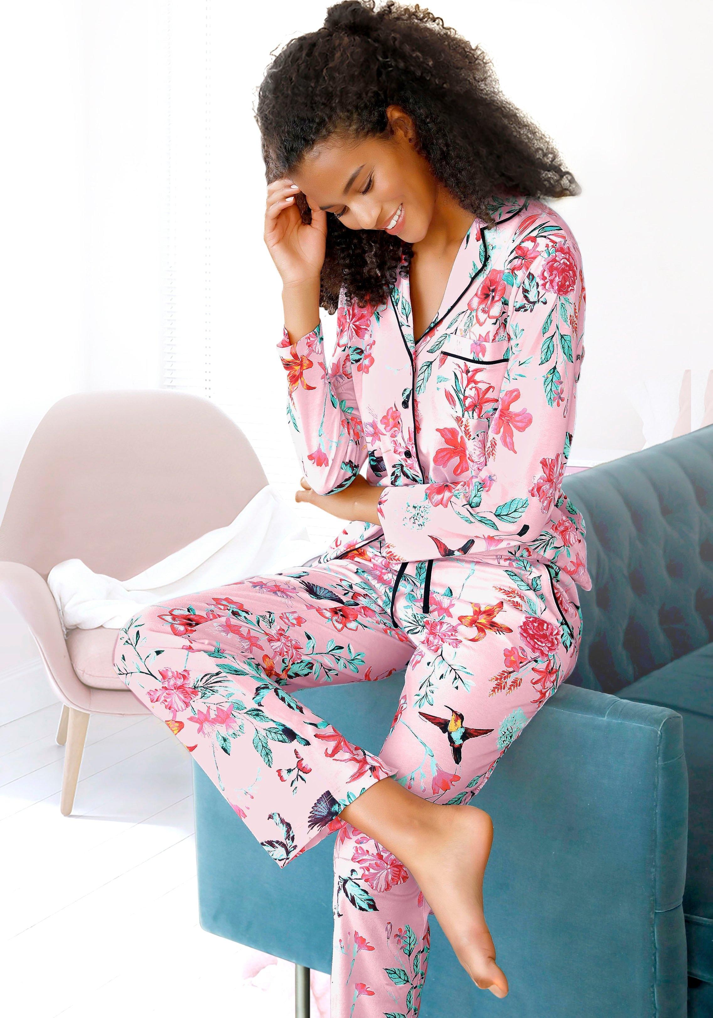 Vivance Dreams pyjama in klassiek model met reverskraag veilig op lascana.nl kopen